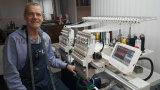 Ho1502 2幸せなビジネス帽子3Dタオルの革ジーンズの刺繍のためのヘッド高速刺繍機械