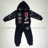 Terno de esportes de manga longa casual de alta qualidade em roupas para crianças