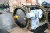 Электрический силовой привод служил фланцем клапан-бабочка (D941X-10/16)