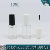 bouteille en verre faite sur commande de vernis à ongles 12ml avec le chapeau noir et blanc de balai