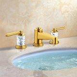ハイエンド金終わりの真鍮の浴室の流しの蛇口