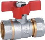 Bruyère de traitement de guindineau d'aluminium - robinet à tournant sphérique en plastique de pipe (YD-1036)