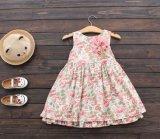 Dress子供の衣服の方法夏のスカートの女の子の花によって印刷される王女