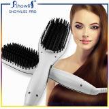 Straightener liso da escova de cabelo do LCD do ferro da escova quente