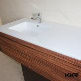 Bacia de lavagem de superfície contínua quadrada do banheiro