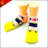 소녀 5 핑거 발가락 양말