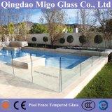 Het vlakke of Gebogen Aangemaakte Traliewerk van het Glas voor de Omheining van het Zwembad