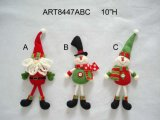 """10 """" ornament-2asst-Kerstmis van de Sneeuwman van de Kerstman van H de Ornamenten van de Boom"""