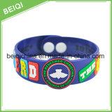 Bracelet fait sur commande spécial de silicones de taille avec le logo