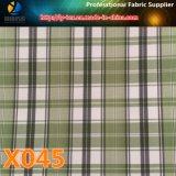 Tessuto dell'assegno del poliestere con 10 scelte in merci rapide per il rivestimento dell'indumento (X045-47)