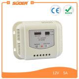 Controlador solar do sistema de energia do indicador 12V 5A de Suoer LCD (ST-G1205)