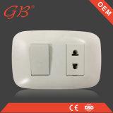 1 interruptor y socket suramericanos de la pared del socket del interruptor 1