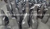 Doosan Dh55の合金の鋼鉄鋳造のバケツの歯のアダプター