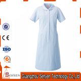 Robe uniforme d'infirmière bleue procurable d'hôpital d'OEM