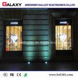Mur polychrome transparent/en verre/guichet DEL/panneau-réclame/signe/panneau/écran de visualisation visuels P3.75/P5/P7.5/P10/P16/P20 pour la publicité