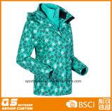1개의 스포츠 재킷에 대하여 여자의 인쇄된 형식 3