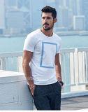 백색 우연한 인쇄 t-셔츠 중국제
