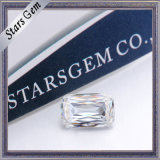 precio esmeralda del diamante de Crisscut Moissanite del rectángulo del color de 6*8m m G/H