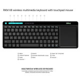 RKM K8 Wireless Mini Tastatur mit Maus Combo, Touchpad.