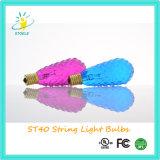 Lampadina incandescente di natale di illuminazione della stringa delle lampadine di colore multiplo St40