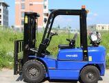 o Forklift de 2.5ton LPG/Gasoline com motor Mistsubishi japonês libra por polegada quadrada de EPA, projeta disponível para prestar serviços de manutenção no ultramar