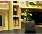 Plantas Potted da luz do cogumelo do escritório da forma da fonte da fábrica