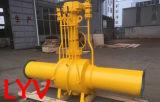 Vávulas de bola completamente soldadas grandes forjadas actuadas de la talla de la ISO del API para el uso del gas y del agua