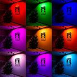 proyector impermeable Lighting+24key al aire libre del reflector 220V 110V 230V 240vled de la luz de inundación de 50W LED 50W RGB LED teledirigido