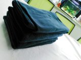 編まれた毛布の無地毛布