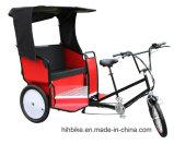 後部席が付いているモーターを備えられた人力車の大人の三輪車