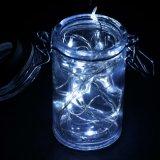 Stelde de Lichte aa Batterij van het koele Witte LEIDENE van de Fee Koord Zilveren Draad voor de Decoratie van de Tuin in werking
