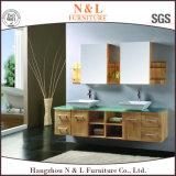 Шкаф тщеты ванной комнаты дуба твердой древесины N&L самомоднейший