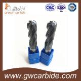 2/3/4のフルートの固体炭化物の端製造所HRC45 50 60