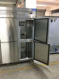 Congélateur commercial d'acier inoxydable de congélateur de basse température