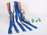 Serviette de plage 100% coton en rayures sur mesure