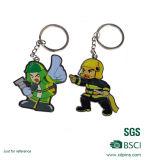Kundenspezifische Metallknochen-Form-Karikatur Keychain Marke