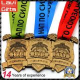 Premio de la venta caliente vieja medalla deportiva con la cinta