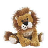 Lion mou bourré de peluche d'animaux sauvages de forêt de poupée de gosses de vente en gros de jouet de lion