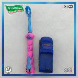 Karikatur-Entwurf scherzt Zahnbürste mit kleinem Geschenk