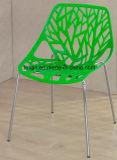 قيلولة بلاستيكيّة أعزل يكدّس ضيق كرسي تثبيت مع كروم ساق ([لّ-0036])