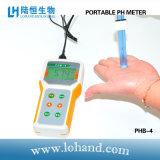Bewegliches pH-Meter mit automatischer Kalibrierung im niedrigen Preis (PHB-4)