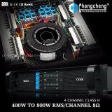 Dxシリーズ4チャネルのクラスHの専門の電力増幅器