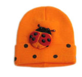 方法赤くおよび白い点検された帽子の帽子(JRK051)