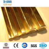 Metal de hoja de bronce elevado de la pureza C85700 para los productos de bastidor Cuzn38al