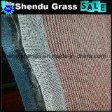 4m Breiten-roter synthetischer Gras-Rasen mit Nettotuch-Schutzträger