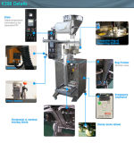 De automatische Verpakkende Machine van het Poeder van de Was van de Suiker Zoute Detergent