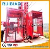Ampliamente nueva venta caliente jaula doble de construcción Ascensores de construcción de elevación (SC 200/200)