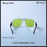 Gafas de seguridad de laser de los anteojos de la protección del laser de los diodos de la Caliente-Venta 808nm 800-1100nm O.D5+ y 1060-1070nm O.D7+/V.L.T el 60% con el marco ajustable 36