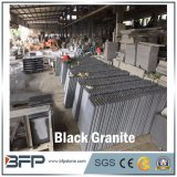 Chinese Australia Style Natural Black Bluestone Granite Tile, Slab, Stair, Cobblestone