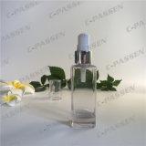 Frasco cosmético de vidro desobstruído da loção da alta qualidade para o empacotamento de Skincare (PPC-GB-011)